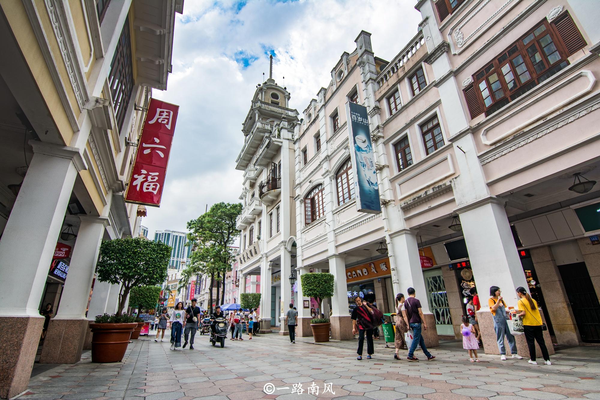 <b>广东有条异国风情街,走廊洋气能避雨,穿行如游电影片场!</b>