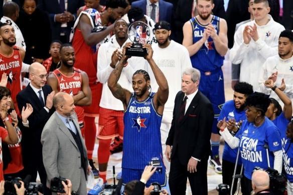 伦纳德全明星MVP 史上最精彩的全明星赛!詹姆斯队战胜字母哥队