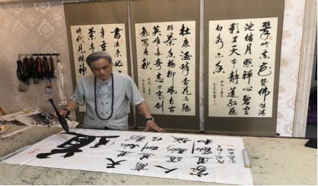 专访广东潮汕商人、书法家佘声俊