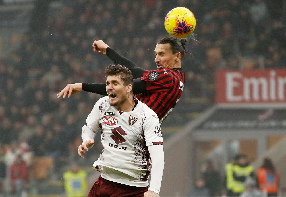意甲-雷比奇破门克亚尔伤退 AC米兰主场1-0都灵