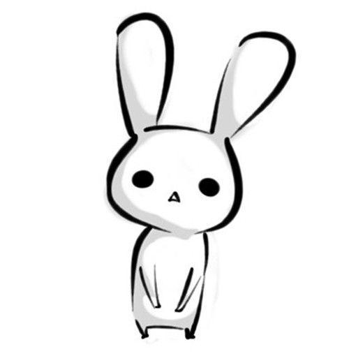 简笔画手绘兔子漫画图片头像 可爱兔子萌图头像