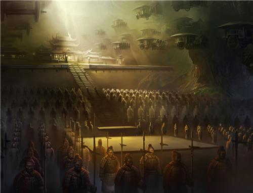 秦始皇陵是否有飞雁?