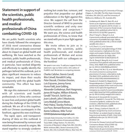 英国《柳叶刀》杂志发表声明支持中国抗击新冠肺炎病毒疫情_英国新闻_英国中文网