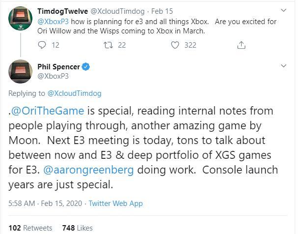 Xbox总监:我们的工作室有大量作品亮相E32020