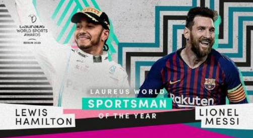 劳伦斯体育奖官方宣布,足球运动员梅西和F1运动员汉密尔顿一同获得劳伦斯年度最佳男运动员奖。