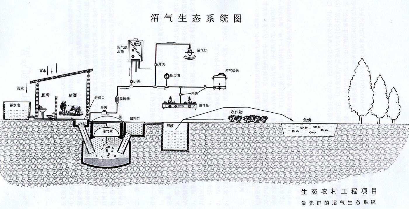 沼气工艺流程简易图