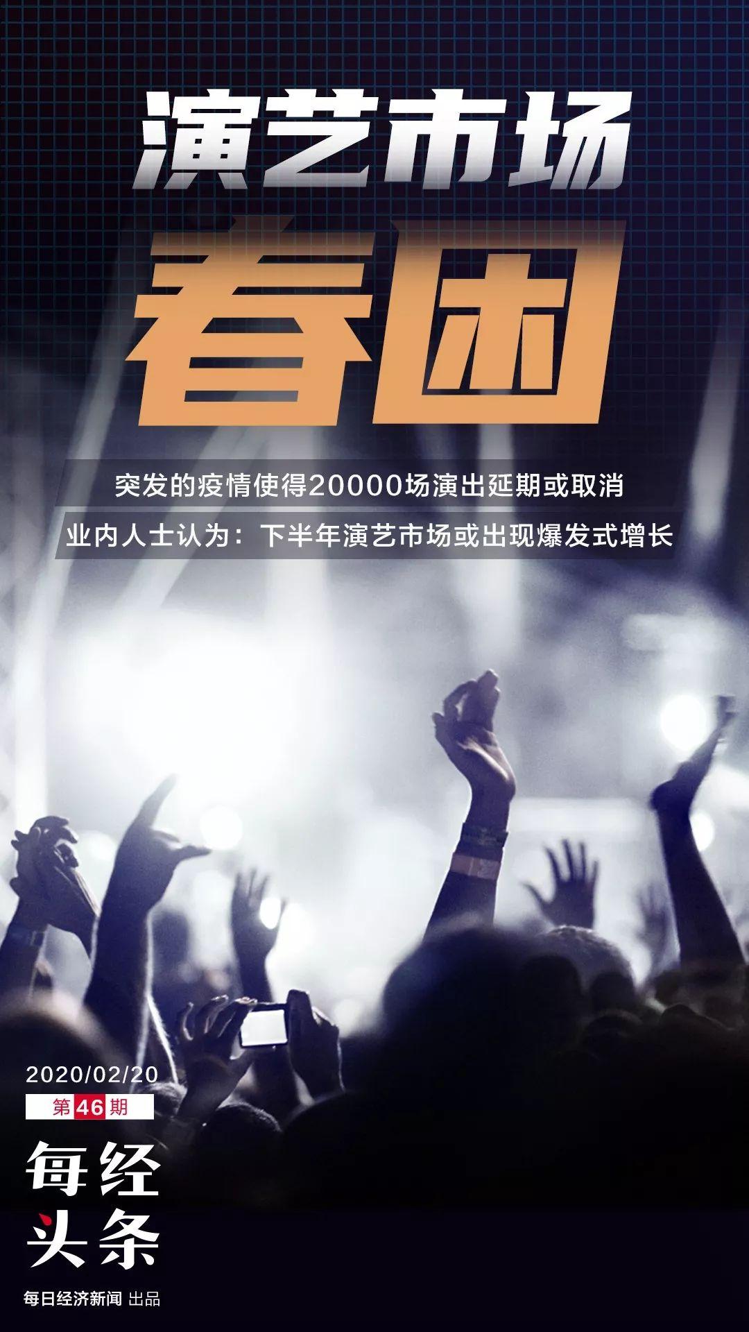 """演艺市场春季档""""没戏"""":20000场演出取消或延期"""