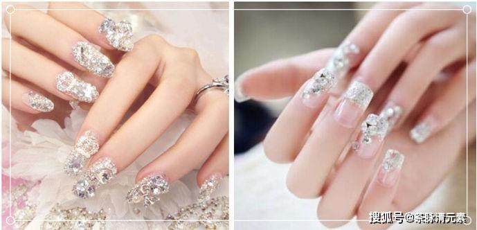 拍婚纱照要不要做指甲_拍婚纱照做的指甲图片