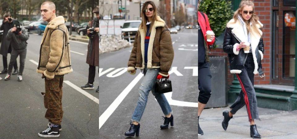 利用毛绒翻领外套搭出3种风格,街头、成熟、休闲感都能搞定_男女
