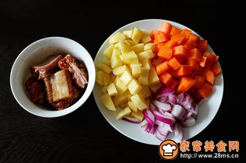 懶人版土豆排骨燜飯的做法