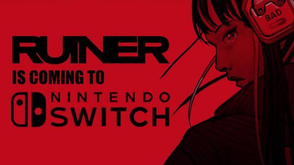 赛博朋克俯视角射击游戏《堕灭暴徒》将登陆Switch