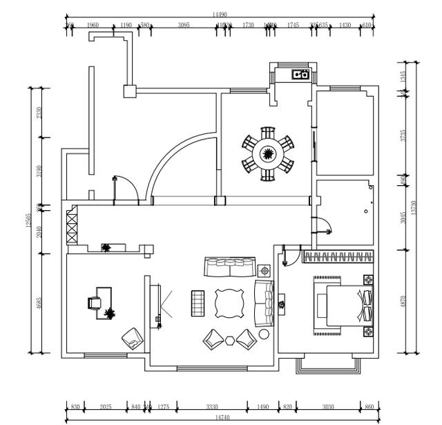 书房平面图怎么画