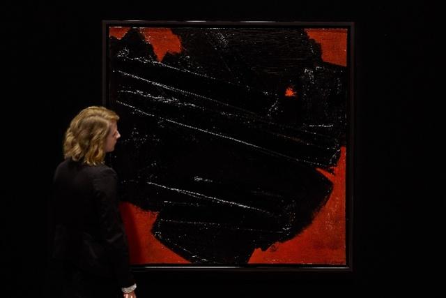 夺目的红与黑!法国抽象艺术大师苏拉热巨作将亮相伦敦邦瀚斯_法国新闻_首页 - 法国中文网