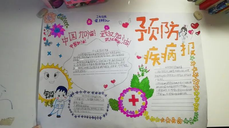 湘南小学:抗击疫情我有责,湘小学子有话说——手抄报篇