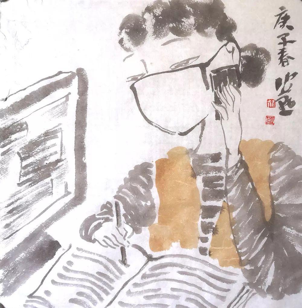 """以""""艺""""抗疫②   宝山教师以笔作画,展示战""""疫""""正能量"""