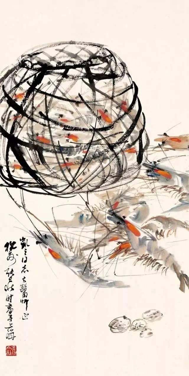 齐白石的虾1.2亿,冷军的虾5万,作为花鸟画大师,他的虾,20块!
