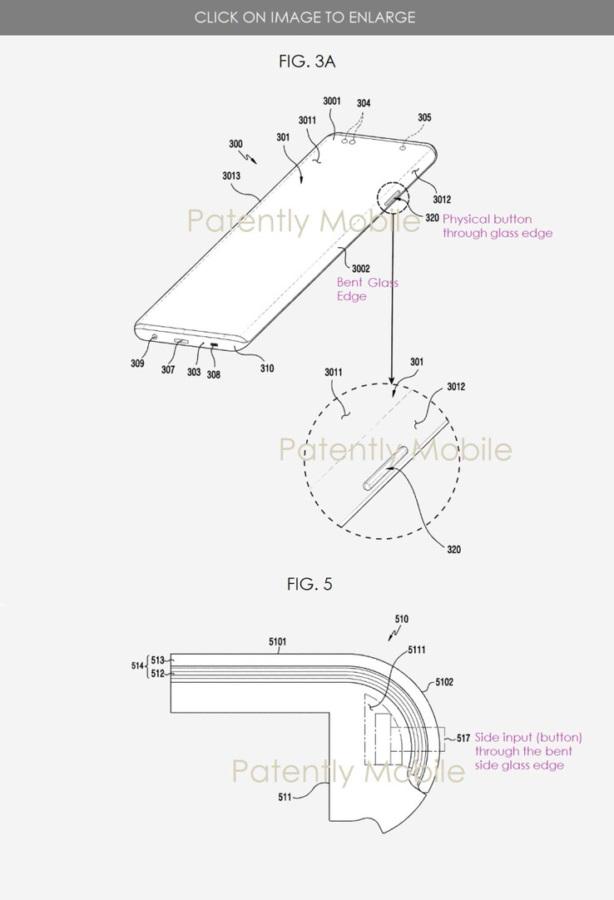 三星申请专利:找到了一种结合瀑布屏和物理按键的方法