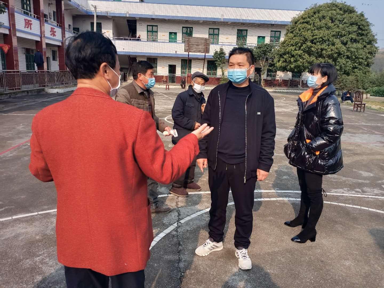 龙塘镇领导督导敬老院疫情防控工作