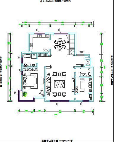 cad玄关设计平面图