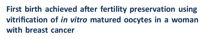 世界首例!乳腺癌患者体外催熟卵子后成功生子,这个技术其实不新鲜