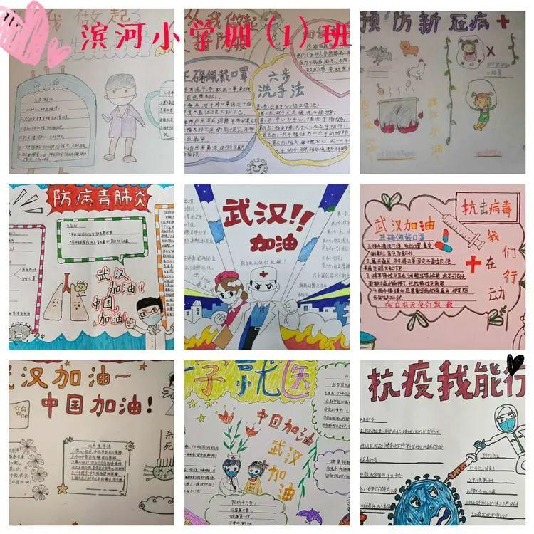 """为中国加油,向奋斗在一线的医护人员致敬""""的主题手抄报"""