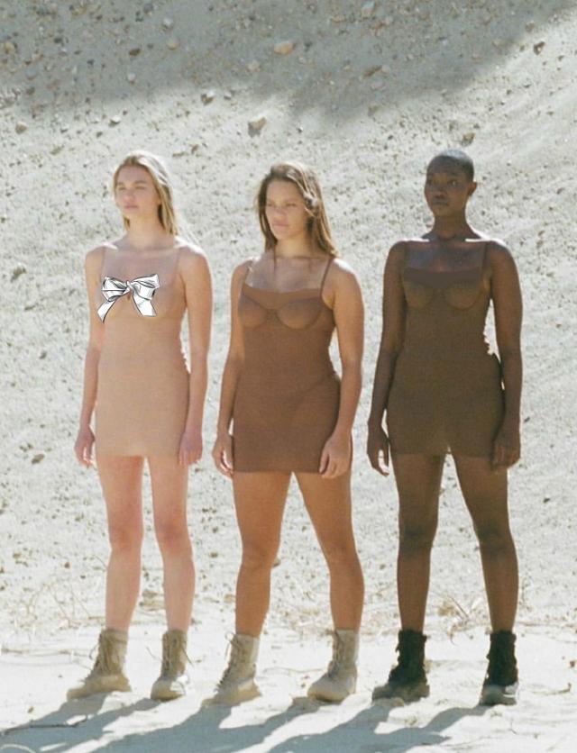 卡戴珊新品内衣大片出炉,多色皮肤模特出镜,