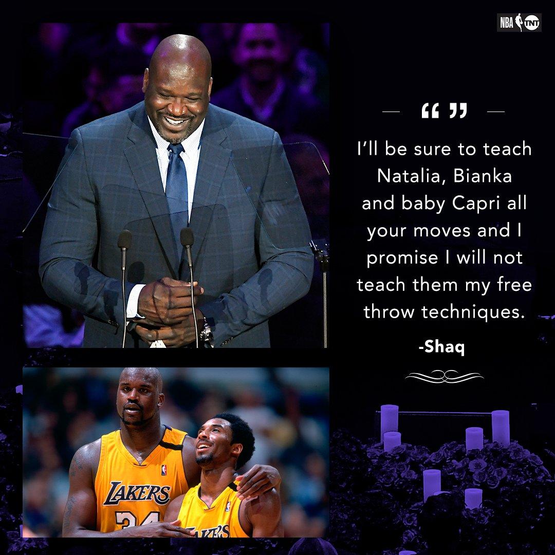 奥尼尔:我会教科比女儿打篮球 并保证不教她们罚球