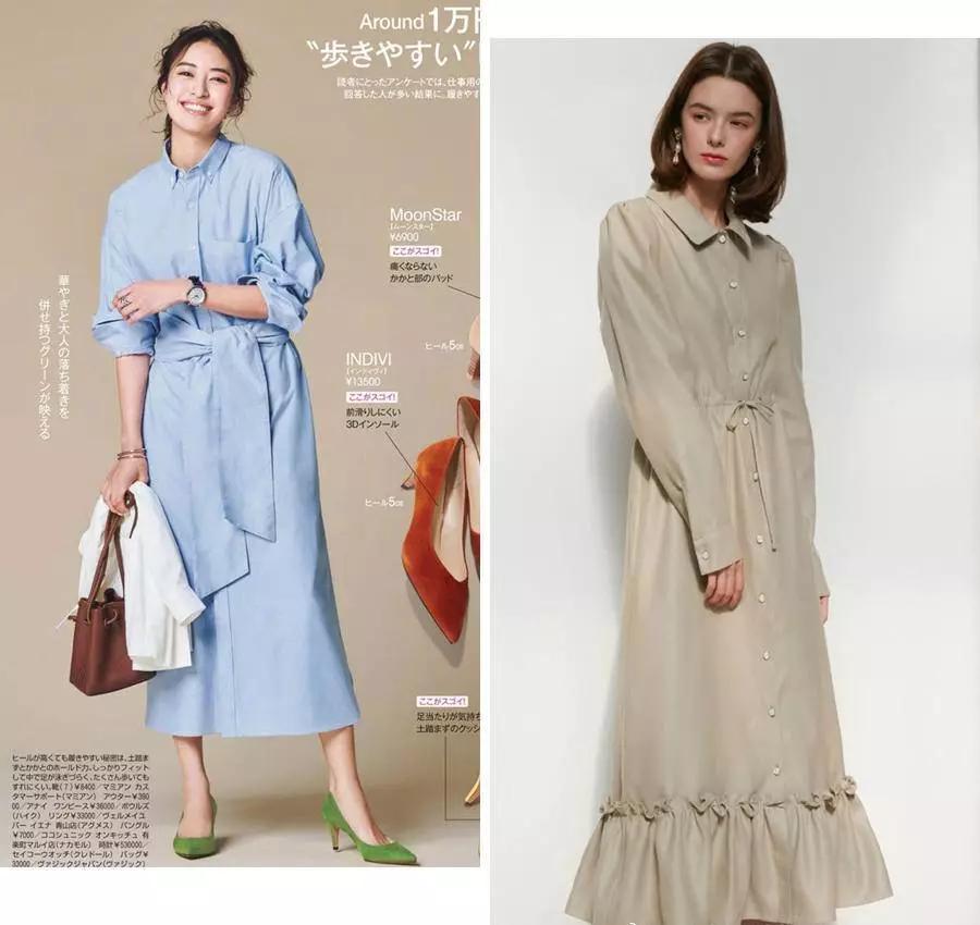 风衣 + 连衣裙,早春这样穿,太美了!
