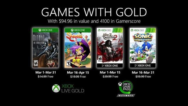 Xbox金會員3月會免游戲:暢玩《蝙蝠俠:內敵》等4作