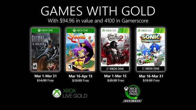 Xbox金會員3月會免公開:《蝙蝠俠:內敵》《桑塔》