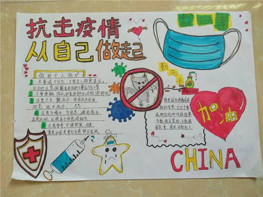 """【基层动态】仙城中学团委举办""""抗击疫情,从我做起""""主题手抄报活动"""