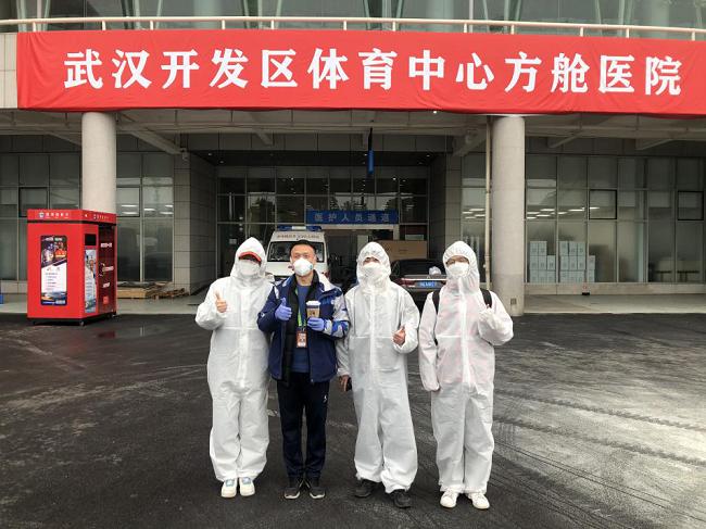 武汉开发区体育中心方舱医院建成20天后,这里飘出了咖啡香