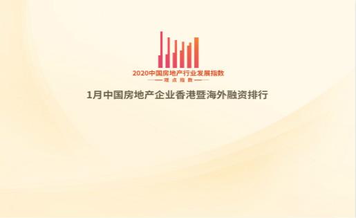 行业发展指数|1月中国房地产企业香港暨海外融资排行及报告