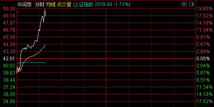 芯片股逆势走高华润微涨超15%