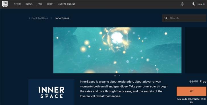 喜加一!Epic免费领取探索游戏《InnerSpace》_Intel