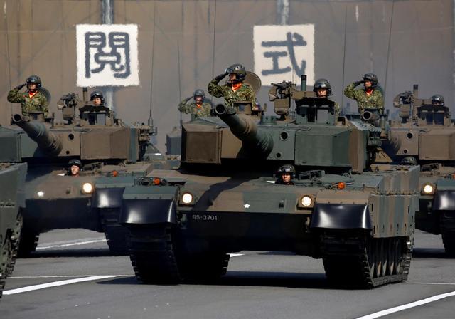 图为日本陆上自卫队装甲力量