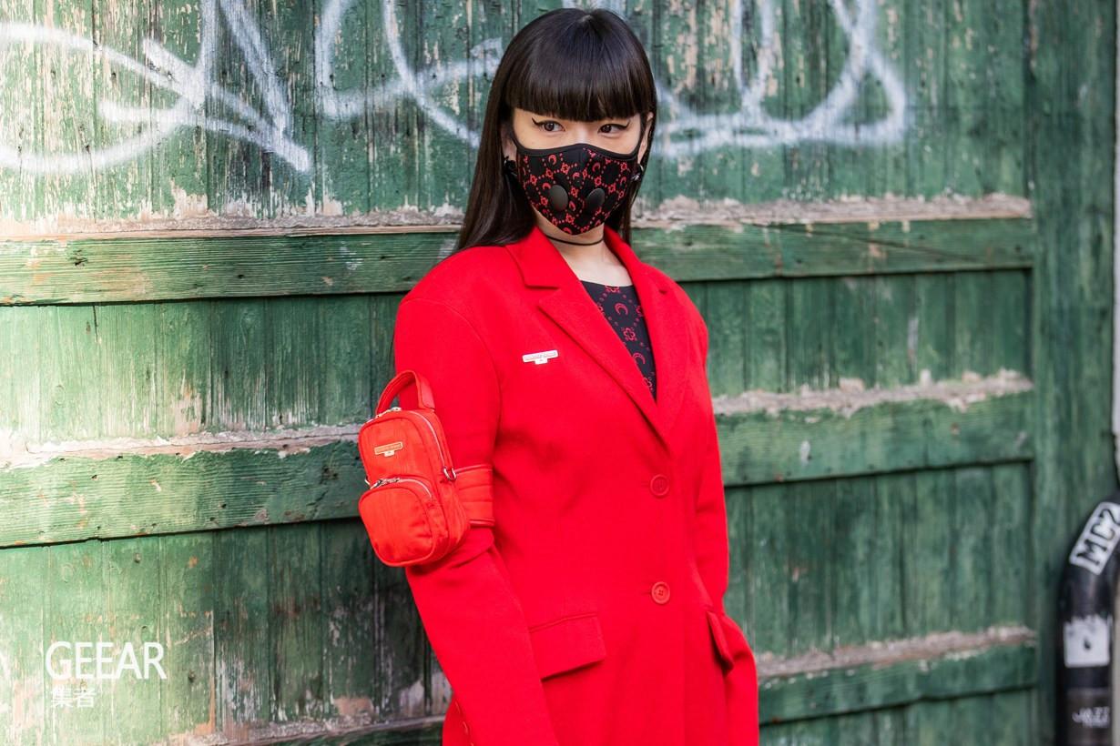 時裝周的場外焦點,秋元梢戴上口罩街拍也能很時髦!_Off-White