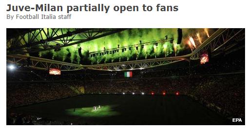 尤文VS米兰意杯将如期进行 重灾区居民禁止入场