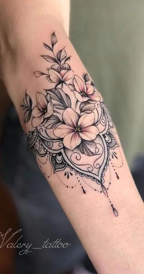 素花纹身| 素材分享图片