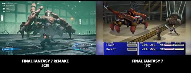 """《最终幻想7》""""壹号魔晄炉引爆作战""""新老对比"""