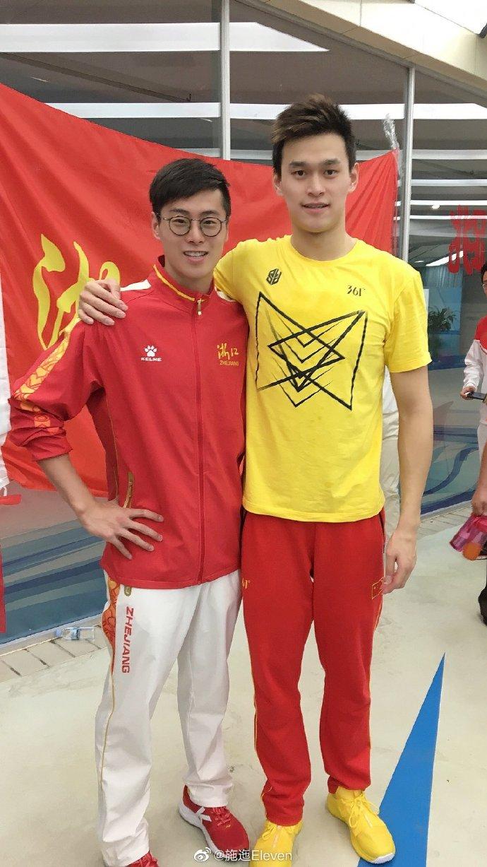 孙杨被禁赛3天后,第一位站出来发声的队友!全国冠军写长文力挺_施迤