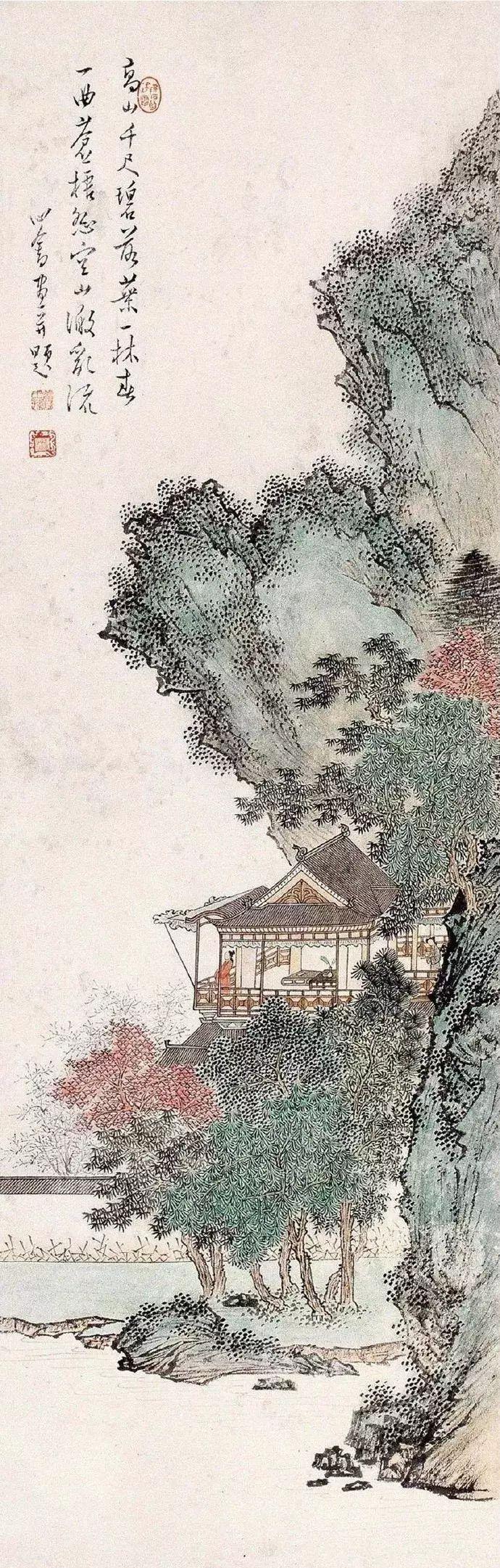 江山平远:溥儒山水作品欣赏