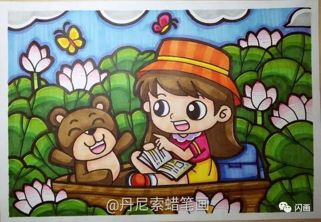 教娃困惑 90张儿童画让你教画画时得意地笑