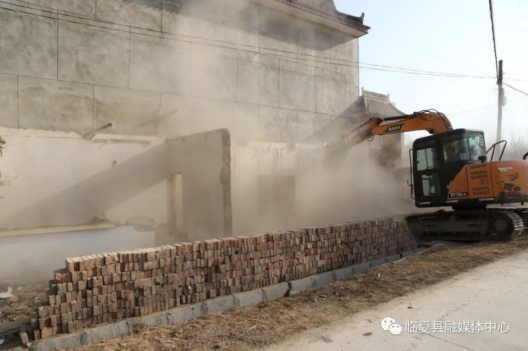 百日攻坚 临夏县北塬镇强力开展拆旧排危 着力提升人居环境