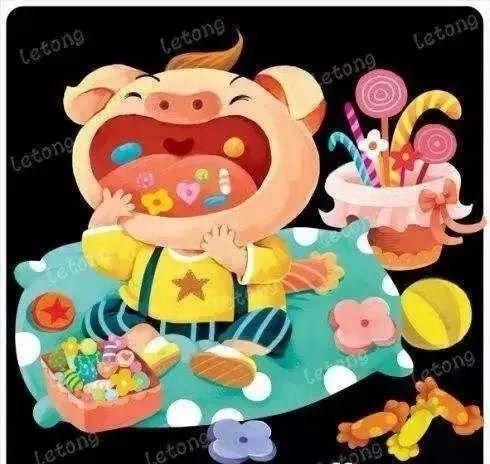 停课不停学,金典在行动 线上课堂绘本故事 爱吃糖果的小猪