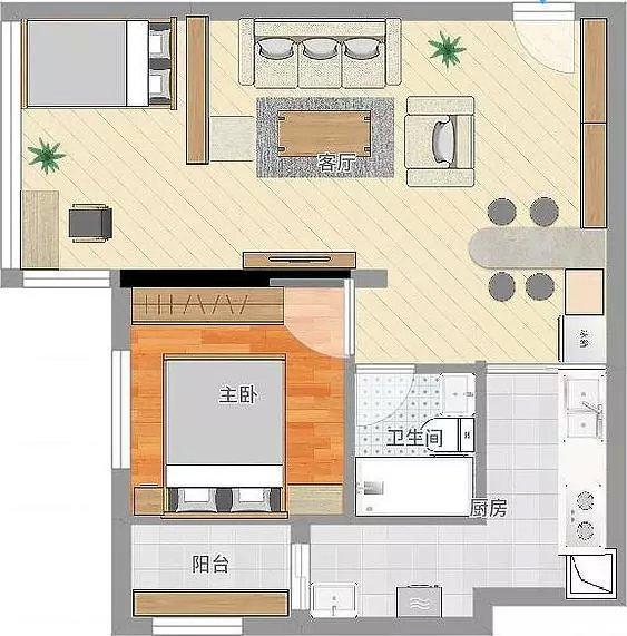 平面设计图,充分利用空间,一房改两房,朋友帮忙画的图纸,方便施工.