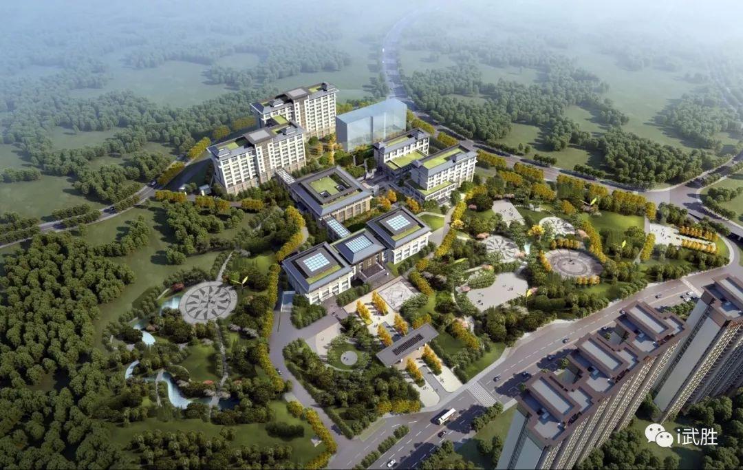 中医医院规划图   配套有用地面积约106.5亩的武胜县中医医院,可便捷地享受高质量的医疗卫生服务.