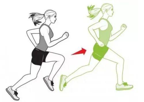 身体尽可能的舒展开,保持正确的跑步姿势,向前跳跃大约30米,然后再
