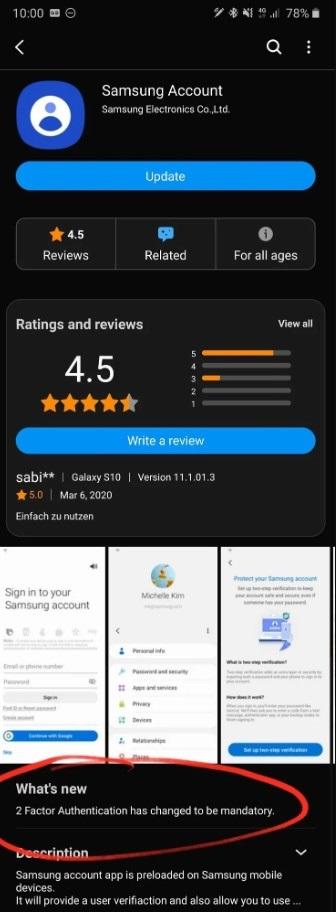 三星账户App开始要求用户必须进行双重认证:正推向所有地区设备