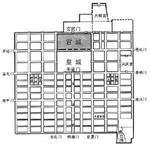 元大都城市平面图